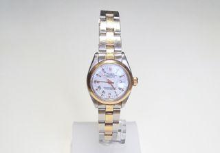 Damenarmbanduhr Rolex Datejust Oyster Perpetual Stahl Gold Ref.  6919 Defekt Bild