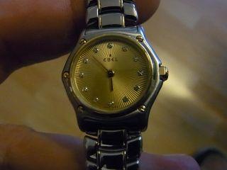Damen Luxusuhr Fa Ebel Mod 1911 In Stahl/750 Gold Perfekter Wie Bild