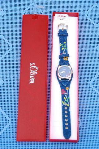 Armbanduhr,  Uhr,  Damenuhr,  Damenarmbanduhr,  S.  Oliver,  Jeansuhr,  Top Bild