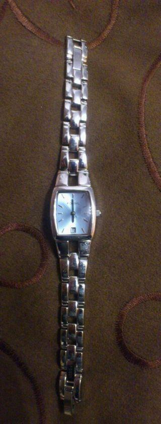 Schöne Silberfarbene Fossil Damenuhr Es - 1054 Bild
