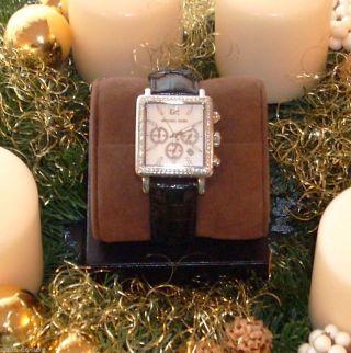 Michael Kors Uhr Armbanduhr Chronograph Mk2320 Alligator Leder Rar & Bild