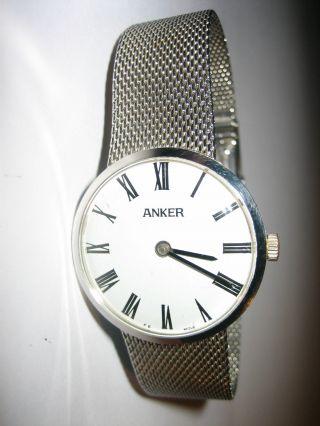 Vintage Anker Herren - Armbanduhr Mit Armband Sus 27 Herrenuhr Uhr Sammlerstück Bild