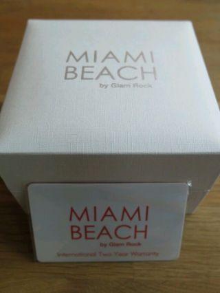 Glam Rock,  Miami Beach,  Edelstahl,  Weißes Silikonband,  Gr50131,  Ovp. . Bild