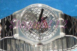 Swatch Gent Silver Net Gk186 / Gk187 Nie Getragen,  Mit Neuer Batterie Bild