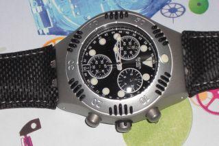 Swatch Scuba Chrono 200 Black Russian Ybs4000 Ovp,  Batterie Bild