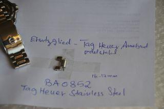 Tag Heuer Ersatz Glied Ba0852 16 - 17mm Inkl.  Pin. Bild
