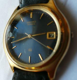 Seiko Japan Movt.  7n42 - 7021 - R2 Elegante Herren Armbanduhr.  Quartz Bild