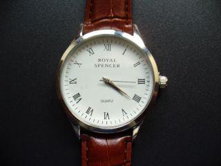 Royal Spencer Elegante Armbanduhr Partneruhr Für Sie & Ihn Reptilleder - Look Bild