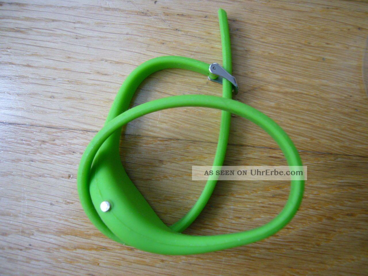 Grüne Armbanduhr Mit Extralangem Silikonband Armbanduhren Bild