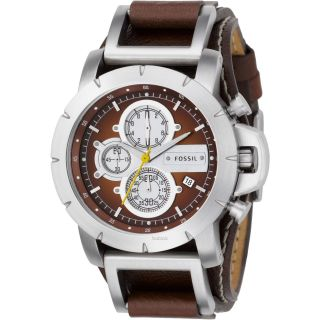 Fossil Uhr Jake Herrenuhr,  Leder Armbanduhr,  Chronograph Jr1157 Bild