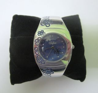 Buffalo Armbanduhr Uhr Damenuhr Mit Blumenmuster Ungetragen Mit Fehler Ovp Bild