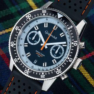 Gigandet Speed Timer Herren Chronograph Mit Datumsanzeige Silikonarmband G7 - 001 Bild