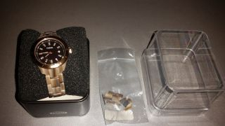 Fossil Armbanduhr,  Rosegold,  Braun Bild