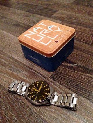 Fossil Herrenuhr Armbanduhr Uhr Edelstahl In Ovp Gelbe Ziffern Bild