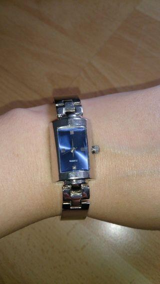 Quartz Women Uhr Damenuhr Edelstahl Blau Bild