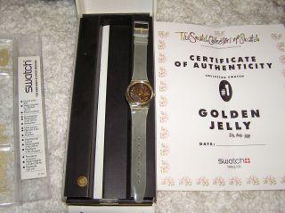 Swatch Golden Jelly,  Ungetragen,  Sammleruhr,  Zertifikat Und Originalverpackung Bild