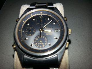 Seiko Titanium Alarm Chronograph Sq100 7t32 - F030 Bild