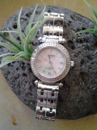 Yorn Diamant Uhr - Limited Edition Nr.  070 Von 120 Mit Perlmuttziffernblatt Bild
