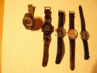 5 Armbanduhren - Seiko - Rh - Casio - G - Shock - Ua Bild