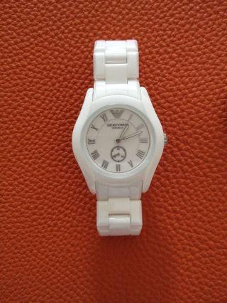 Emporio Armani Uhr Damenuhr Keramikuhr Armbanduhr Weiss,  Np500€,  100 Bild