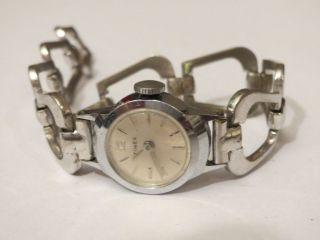 Antike Timex Damenuhr Mit Handaufzugswerk Uhr Läuft 60er Jahre Modeuhr Geschenk Bild