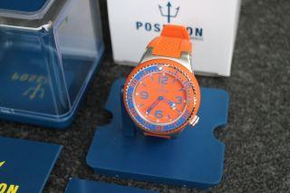 Kienzle Herren - Armbanduhr Poseidon Xl Np.  119€ Silikon Orange Bild