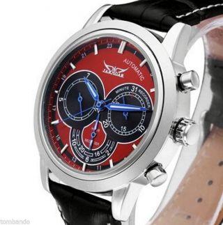 Design Herrenuhr Automatik Uhr Edelstahl H041m. Bild