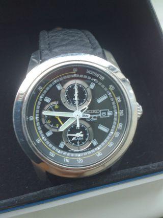 Seiko Alarm Chronograph Snad31p1 Sonderedition Iaaf 2009 Bild