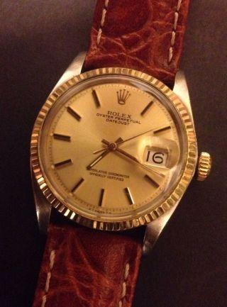 Rolex Datejust 1601 Stahl / 18 Karat Gold 1956 Bild