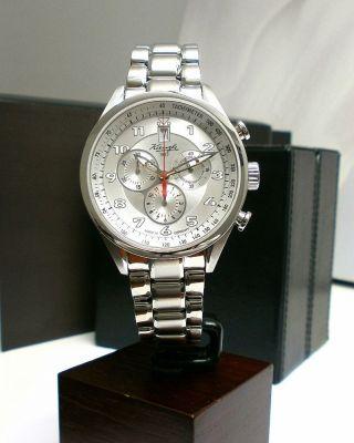 Kienzle Herrenuhr Chronograph Metall Armband 5barw.  R. Bild