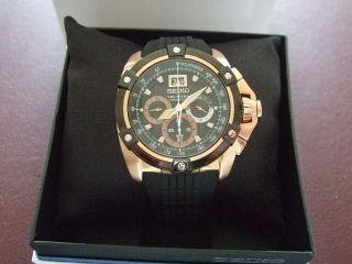 Seiko Uhr Herrenuhr Neuwertig Velatura Chronograph Armbanduhr Rose Bild
