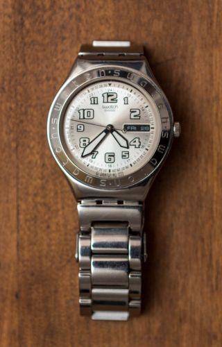 Swatch Irony Herren Armbanduhr / Silber,  Analog / Modell Ygs716gx Bild