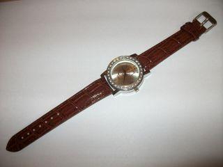 Bader Armbanduhr Limited Edition Mit Lederarmband Quarz Uhr Braun Steine Bild