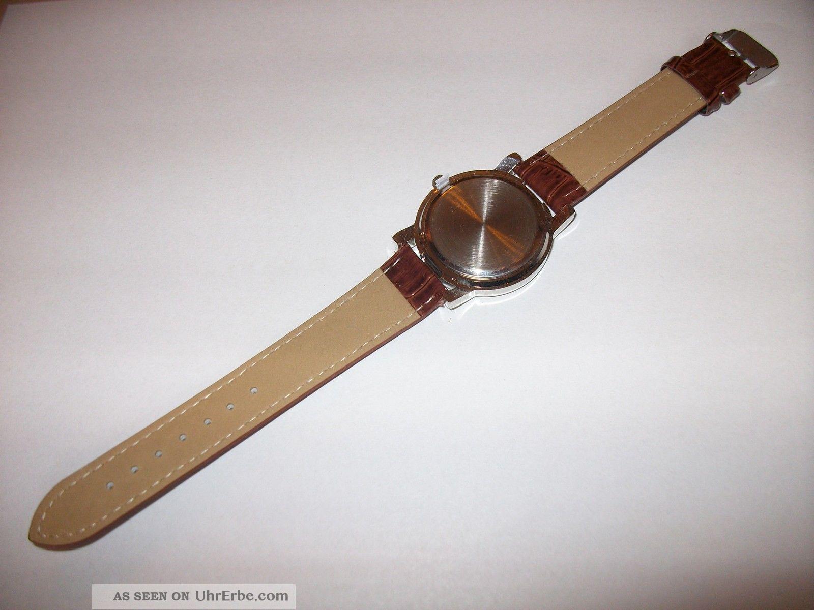 Bader Armbanduhr Limited Edition Mit Lederarmband Quarz ...