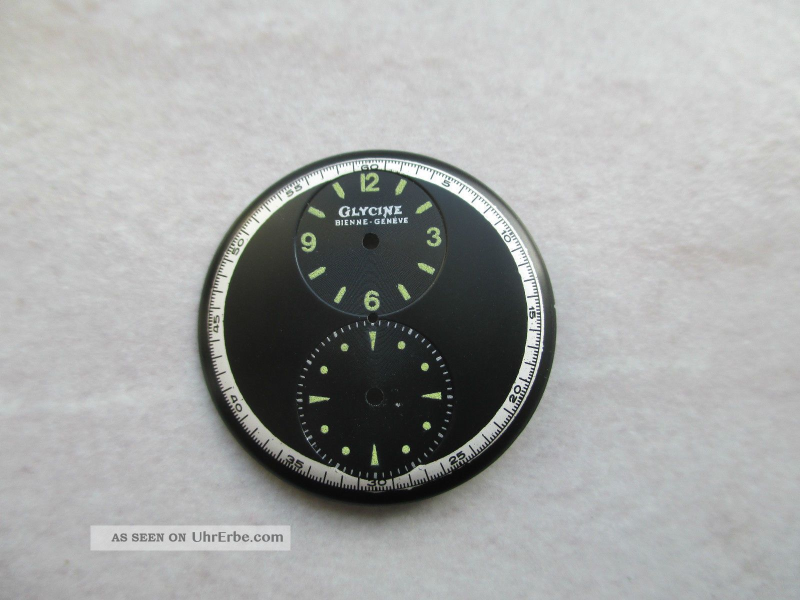 Zifferblatt Cadran Dial Glycine,  Regulator Doctors,  Duo Dial Armbanduhren Bild