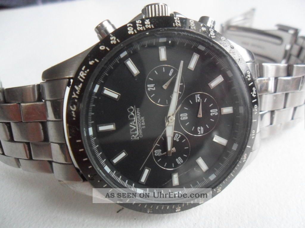 Rivado Chronograph Edelstahl Armbanduhren Bild