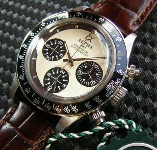Alpha Dayton Paul Newman Handaufzug Chronograph St19 Marina Militare Parnis Bild