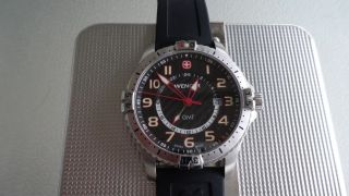 Wenger Herrenuhr Squadron Gmt 20770750,  Quarz,  Saphirglas,  Ovp, Bild