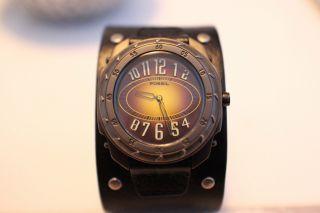 Fossil Armbanduhr Lederarmband Bild