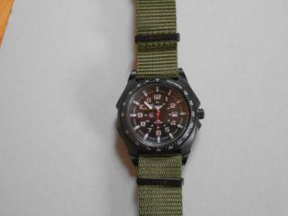 Khs Sentinel A Einsatzuhr Mit Nylonarmband Oliv Militäruhr Tactical Watch Bild