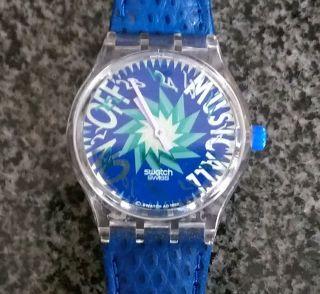 Swatch Musicall Tone In Blue Alarmfunktion Mit Musik Von Jean Michel Jarre Bild