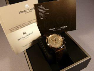 Mens Classic Maurice Lacroix Chronographe Watch Bild