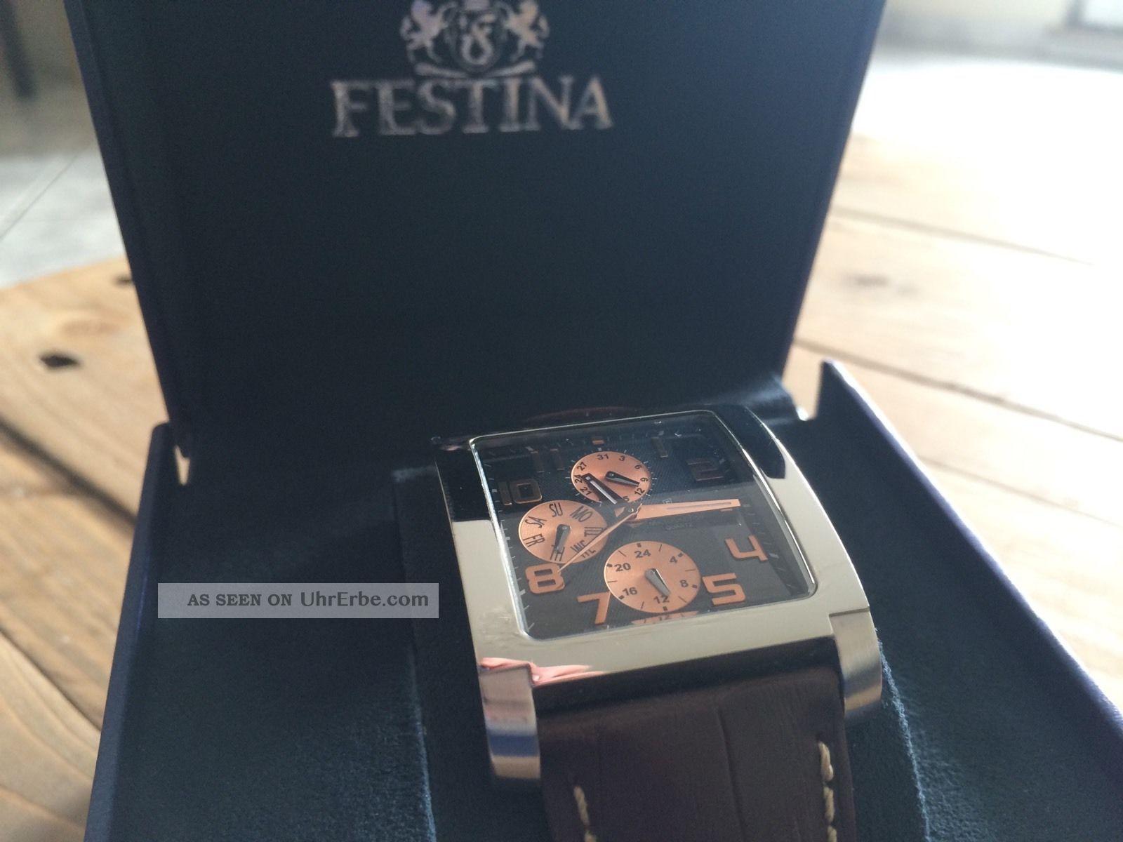 Top Festina Design Herrenuhr F16235/c Armband Uhr Herren - Wie Armbanduhren Bild