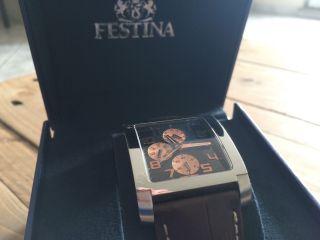 Top Festina Design Herrenuhr F16235/c Armband Uhr Herren - Wie Bild