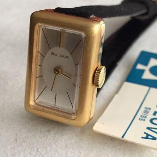 Vintage Bulova Armbanduhr Vergoldet Handaufzug Schweiz 1960 Bild