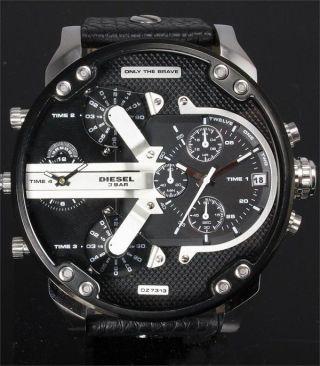 Diesel Herren - Armbanduhr Xl Mr Daddy Chronograph 4 - Zeitzonen - Anzeige Dz7313 Bild