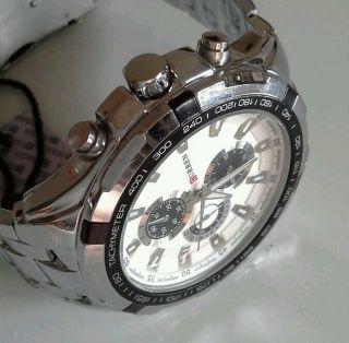 Luxus Herren Uhr Analog Quarzuhr Edelstahl (schwer) Armbanduhr Bild