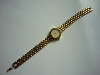 Tempic Quarz Damen Elegante Schöne Armbanduhr Goldfarbig Bild