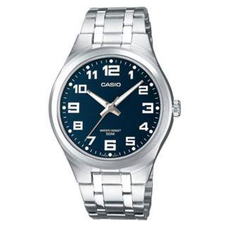 Casio Herrenuhr Armbanduhr Analog Silbern Glänze Blau Weiß Mtp - 1310pd - 2bvef Bild