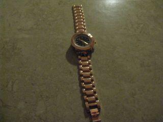 Armbanduhr Rose - Gold Kupfer Braun Strass Bild